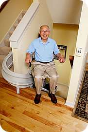 Homeadapt Elite Curve heavy duty stairlift for curved stairs