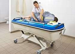 Handi-Move shower bathing trolley