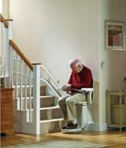 Stannah Siena stair lift for curved stairs. How to use, Step 3, safe, secure seatbelt