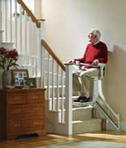 Stannah Siena stair lift for curved stairs. How to use, Step 4, travels on the stairs smoothly