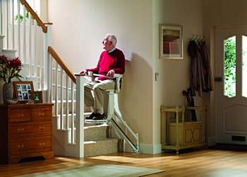Stannah Siena stairlift for curved and angled staircases