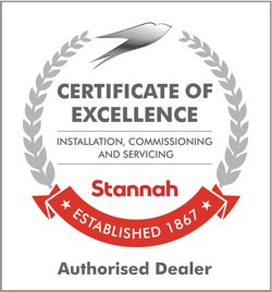 Stannah Authorised Dealer Certificate of Excellence logo for installation, commissioning, and servicing
