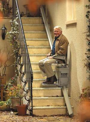 Stannah outdoor stair lift for external outside use