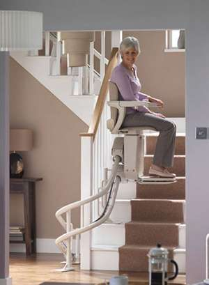 Stannah Starla curved stair lift