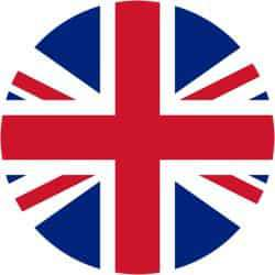 British flag in a circular shape