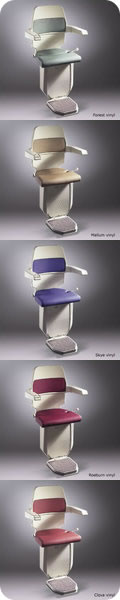 Stannah Sarum 260 stairlift for curved stairs. Colours available.