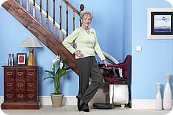 Handicare stairlift for curved stairs