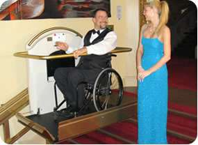Linwood Xpress 11 wheelchair stairlift for straight stairs