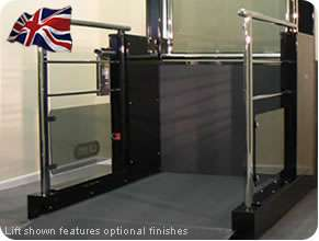Low rise range wheelchair lift for commercial and business locations