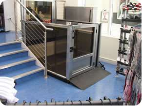 Opal wheelchair lift for commercial and business locations