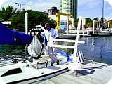 The Mariner Semi Portable Dockside Lifts from RMT Aquatics