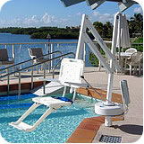 The Semi Portable Aquatic Lift (ADA Compliant) from RMT Aquatics